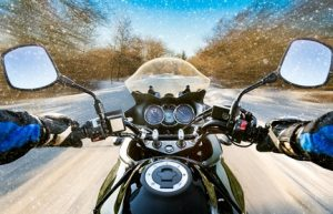 Motorbike In Winter